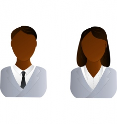 African man and woman vector image