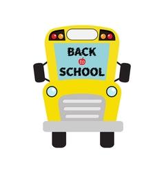 Back to school yellow school bus kids cartoon vector
