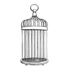 Birdcage isolated on white background vector image