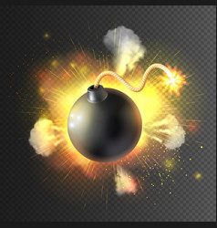Boom Bomb Exploding Festive Poster Print vector image vector image
