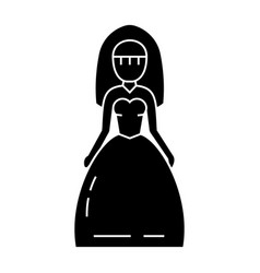 bride icon black sign on vector image