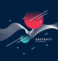 bright abstract background with a dynamic waves vector image vector image