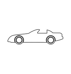 Car black color path icon vector