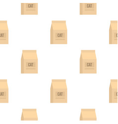 Cat food bag pattern seamless vector
