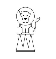 Circus lion icon vector