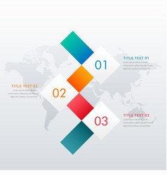 Creative three steps infographic design template vector