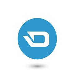 darkcoin icon vector image vector image