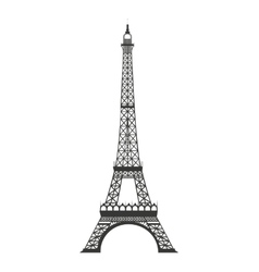 eiffel tower isolated icon design vector image vector image