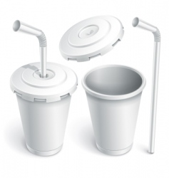 fast food white cup vector image