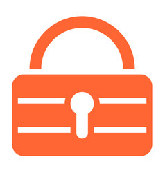 Flat padlock icon lock sign password button vector