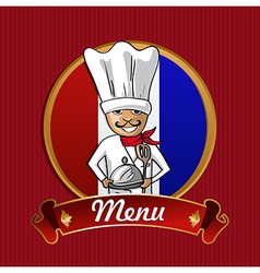 Food from France menu poster vector image