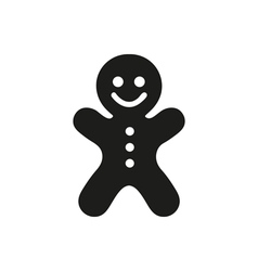 Gingerbread man icon on white background vector image