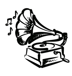 gramophone icon vector image vector image