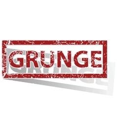 Grunge outlined stamp vector