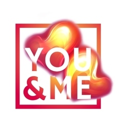 Happy valentine day You and me Two hearts with vector image vector image