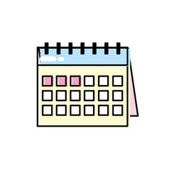Important calendar to remember special days vector