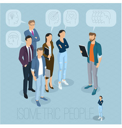 isometric people communicating vector image vector image