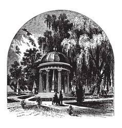 Jacksons tomb vintage vector