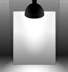 lamp lit paper vector image vector image