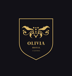 luxury logo crests logo logo design for hotel vector image vector image