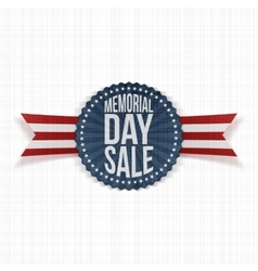 Memorial Day Sale greeting Banner with Text vector image vector image