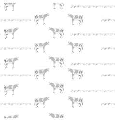 Pattern with cows vector image vector image