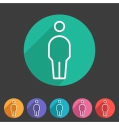 Person men user icon flat web sign symbol logo vector