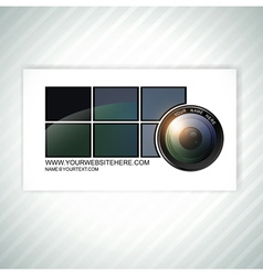 photographer business card template vector image