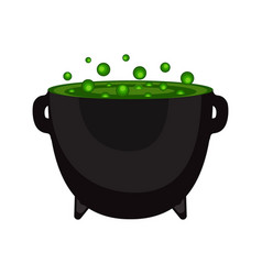 potty with a witch potion for halloween vector image