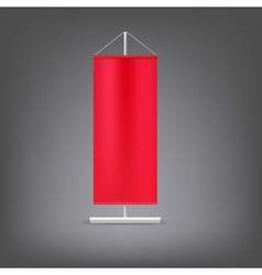Red advertising stand blank vector