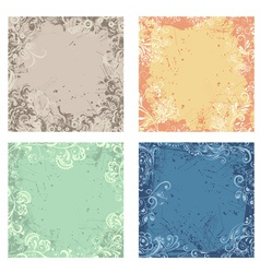 Retro abstract floral backgrounds vector