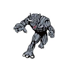 Rhinoman villain vector