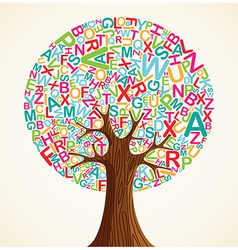 School education concept tree vector