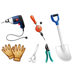 Six different kinds of construction tools vector image