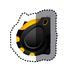 sticker realistic silhouette color of tape measure vector image vector image