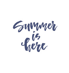 Summer theme lettering vector