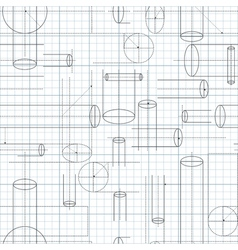 Technical Drawing Seamless Background vector image