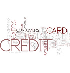 The course of the credit cards what can people do vector