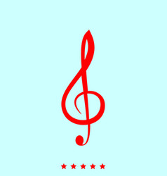 treble clef set it is color icon vector image vector image