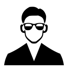 Young hipster fashion man hair and glasses vector