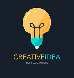 Creative success idea logo vector