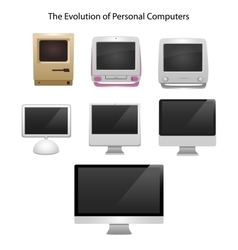 The evolution of computers 7 different types vector