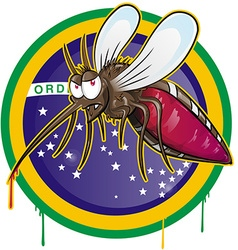 Mosquito zika cartoon vector