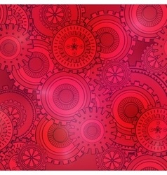 Fashionable red and pink gearwheels technology vector