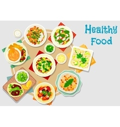 Hearty meal icon for dinner menu design vector
