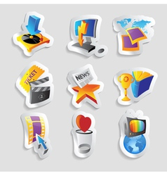 Icons for media vector