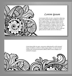 Set of card or invitation vector