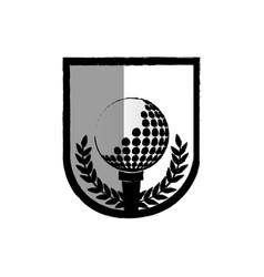 Golf sport ball isolated icon vector
