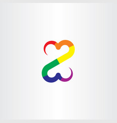 Colorful z letter icon symbol vector