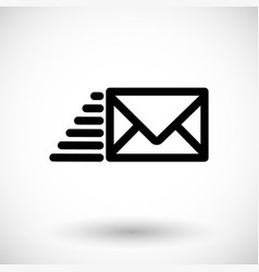 mail icon flying envelope vector image